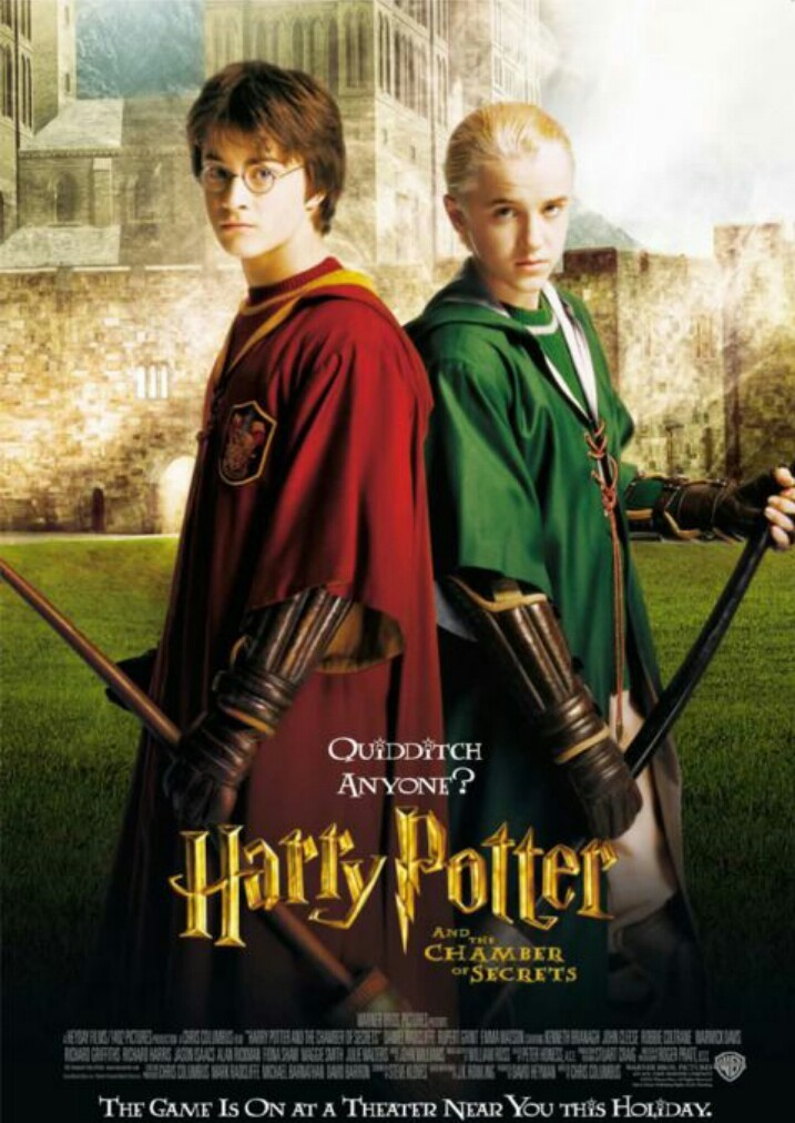 draco malfoy, harry potter, and quidditch image