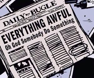 awful, comic, and newspaper image