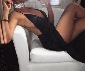 black dress, fashion, and clothes image