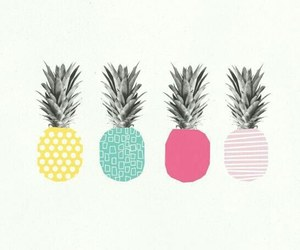 art, colors, and pineapple image