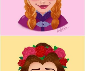 anna, belle, and princess image