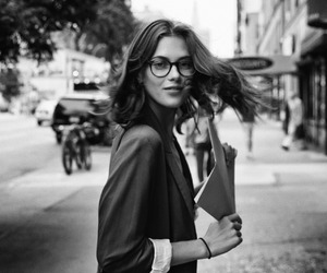 black & white, fashion, and glasses image