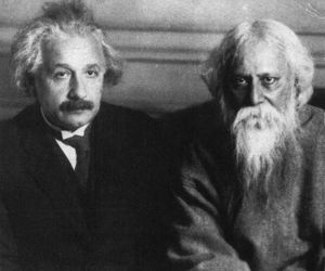 einstein and rabindranath tagore image