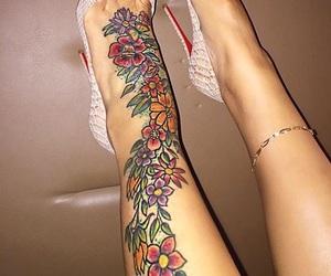 feet, goals, and feet tattoo image