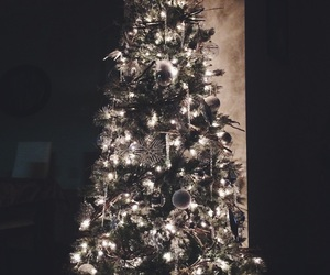 christmas, happy, and trees image