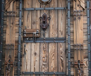 ironwork, rustic, and carved wood image