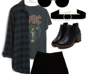 ankle boots, black, and choker image