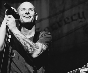 corey taylor and black and white image