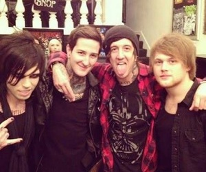 mitch lucker, danny worsnop, and asking alexandria image