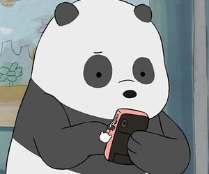 panda, bear, and we bare bears image