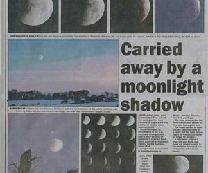 moon, newspaper, and grunge image