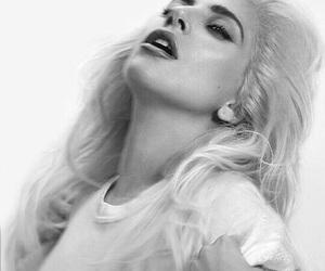 Lady gaga, beautiful, and black and white image