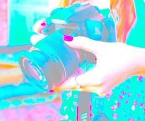 cámara, colorful, and girl image