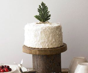 cake, christmas, and decorations image