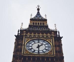 london, Big Ben, and clock image