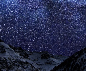 stars, night, and snow image