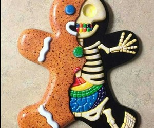 cookie, Halloween, and skeleton image