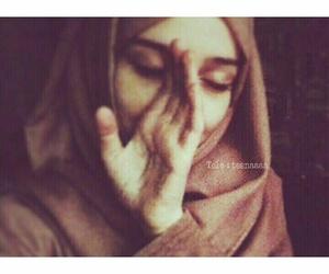 hijab, girl, and love image