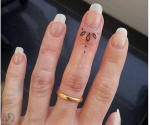 tattoo, fingers, and ink image