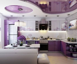 luxury kitchen purple image