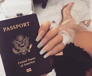 nails, luxury, and passport image