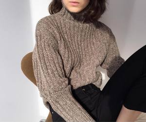 fashion, sweater, and fall image