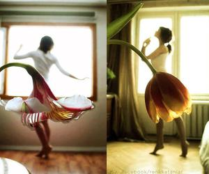 flowers, dance, and dress image