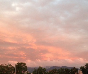 peachy, sky, and grunge image
