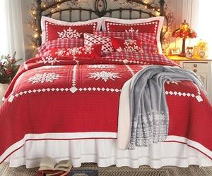 christmas, bedroom, and lights image
