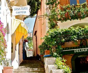 Amalfi coast, etsy, and yellow image