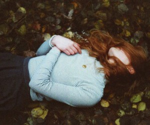alone, autumn, and girl image