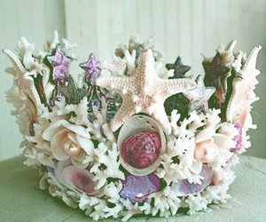 crown, mermaid, and shell image