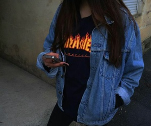 fashion, jeans, and trasher image