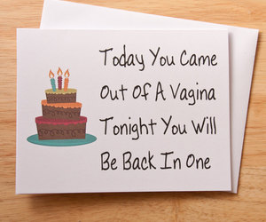 birthday card, etsy, and naughty card image