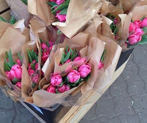 flowers, carefree, and pink image