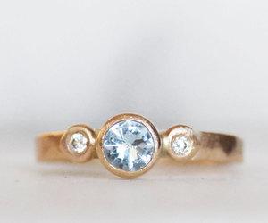 diamond ring, etsy, and 14k gold ring image