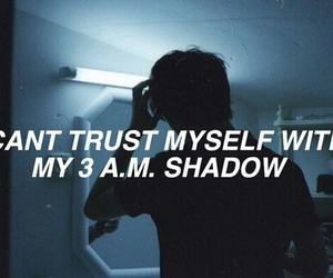 quotes, sad, and shadow image