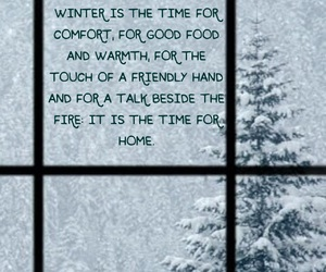 quotes, snow, and window image