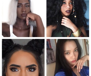 beauty, girls, and people of colour image