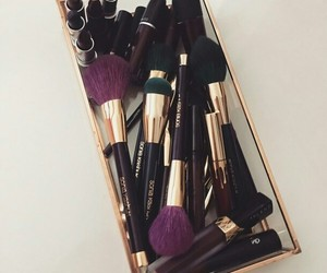 Lipsticks, Brushes, and make up image