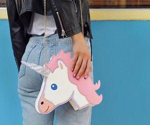unicorn, girl, and fashion image