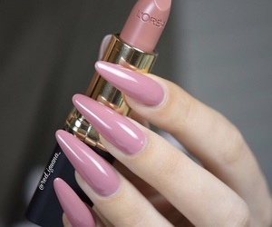 hands, nail art, and pink image