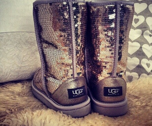 boots, ugg, and sequins image
