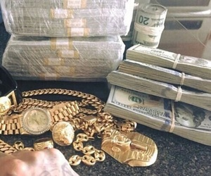 money, ghetto, and gold image