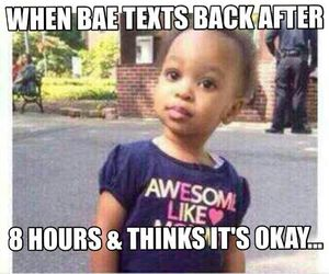 bae, funny, and text image
