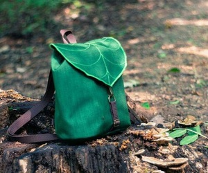bag, foliage, and forest image