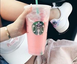 starbucks, adidas, and pink image