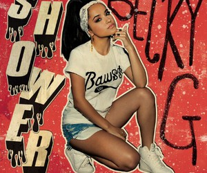 becky g, music, and shower image