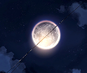 anime and moon image