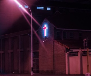 neon, aesthetic, and church image
